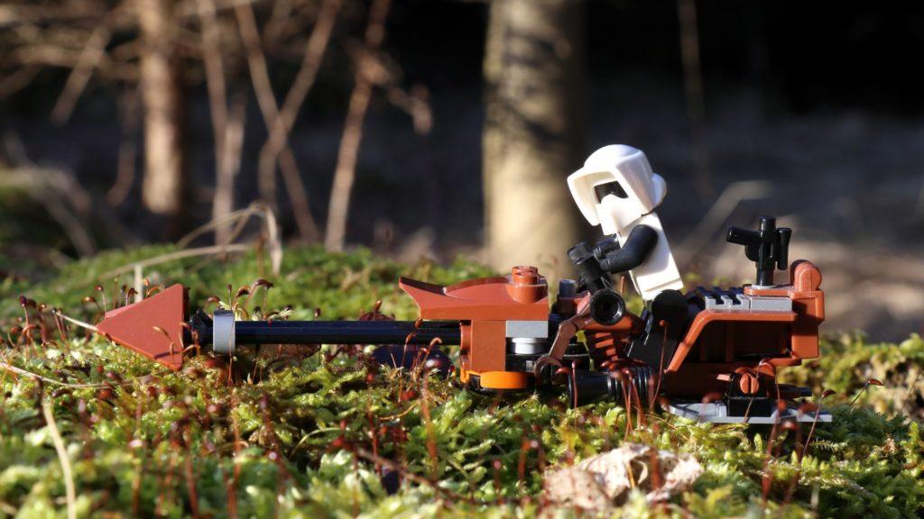 Imperialer Scout mit Speederbike | ©2018 Brickzeit