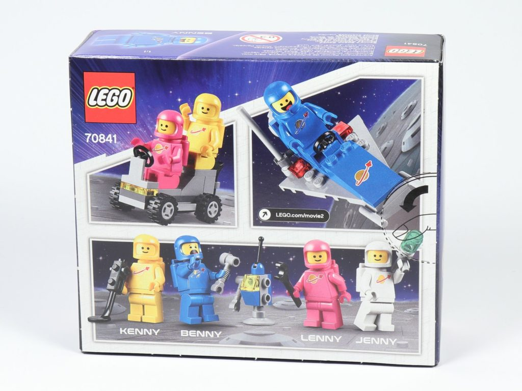 LEGO® Movie 2 70841 Bennys Weltraum-Team - Packung, Rückseite | ©2019 Brickzeit