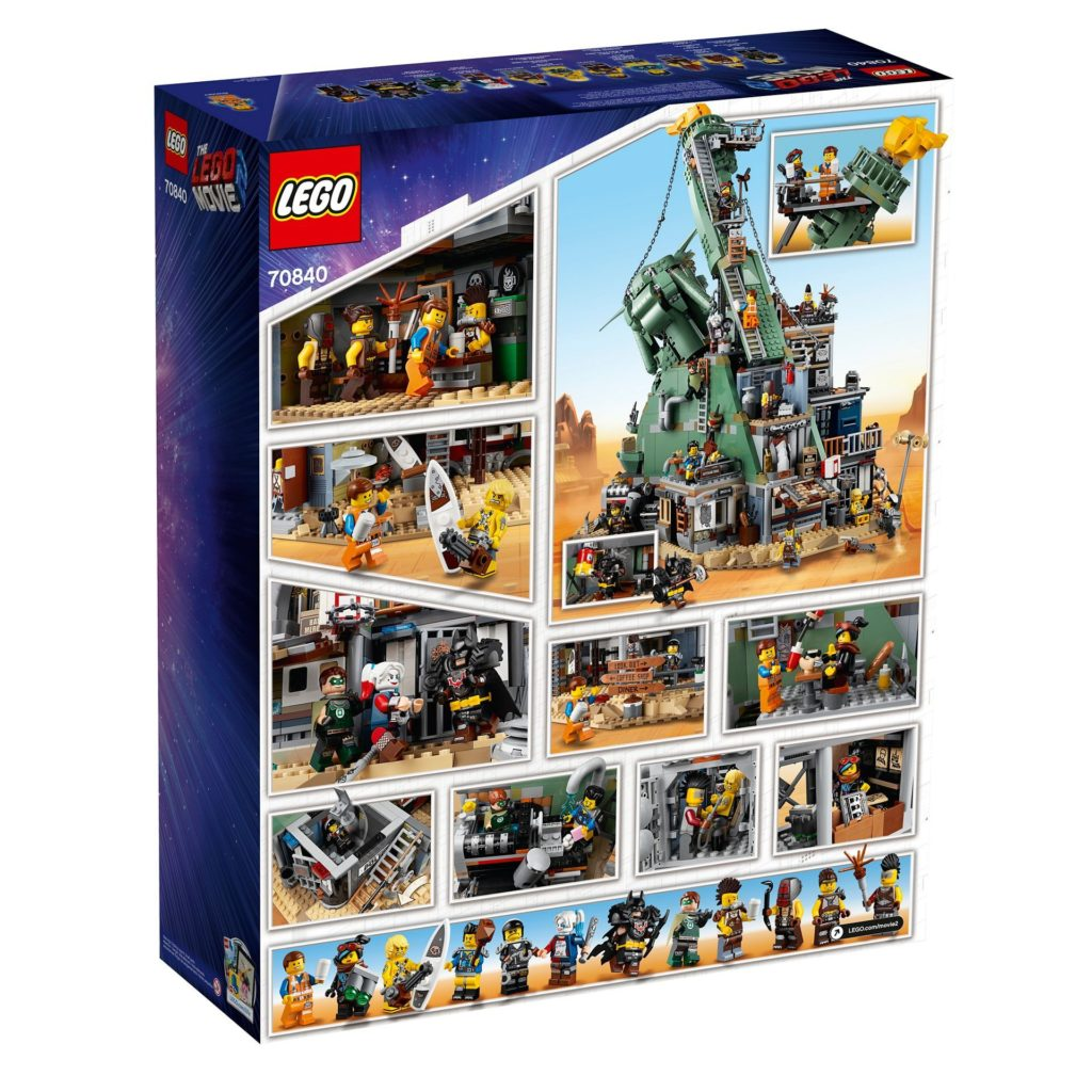 The LEGO Movie 2 - 70840 - Welcome to Apocalypseburg - Packung Rückseite | ®LEGO Gruppe