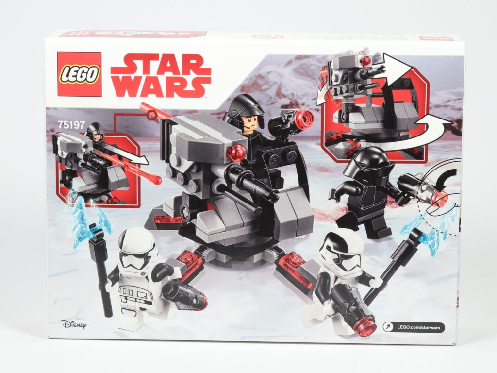 LEGO® Star Wars™ 75197 First Order Specialists Battle Pack - Packung, Rückseite | ©2019 Brickzeit