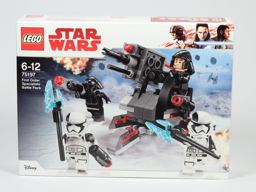 LEGO® Star Wars™ 75197 First Order Specialists Battle Pack - Packung, Vorderseite | ©2019 Brickzeit