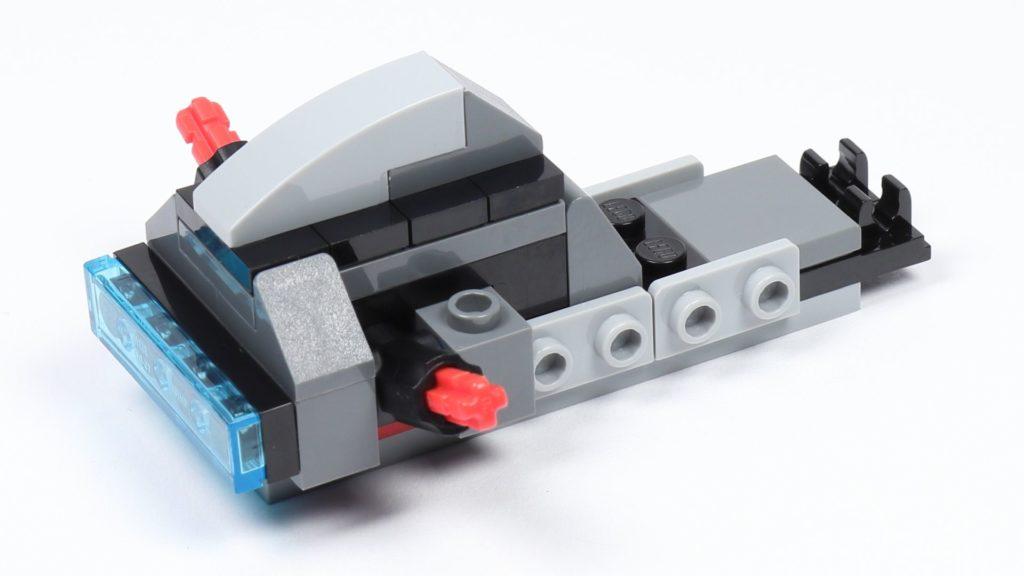 LEGO® Star Wars™ 75226 - Speeder - Rumpf im Aufbau, hinten rechts | ©2019 Brickzeit