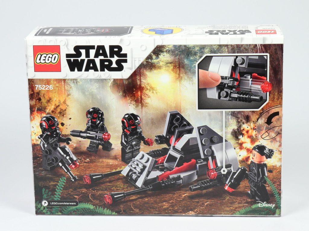 LEGO® Star Wars™ 75226 Inferno Squad Battle Pack - Packung, Rückseite | ©2019 Brickzeit