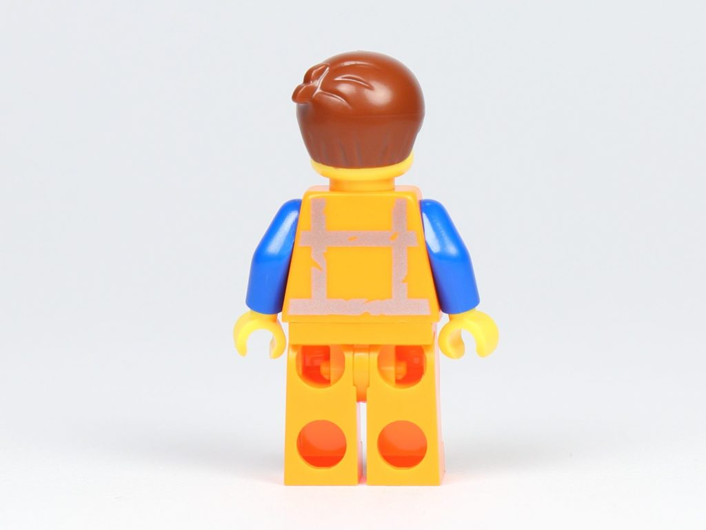 THE LEGO MOVIE 2 Mini-Baumeister Emmet (30529) - Minifigur Emmet Rückseite | ©2019 Brickzeit