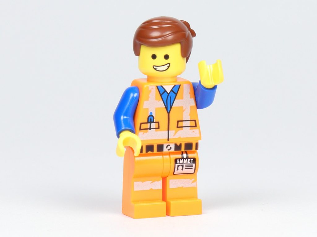 THE LEGO MOVIE 2 Mini-Baumeister Emmet (30529) - Minifigur Emmet winkt | ©2019 Brickzeit