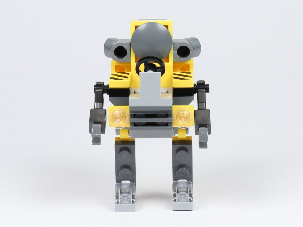 THE LEGO MOVIE 2 Mini-Baumeister Emmet (30529) - Roboter, Vorderseite | ©2019 Brickzeit
