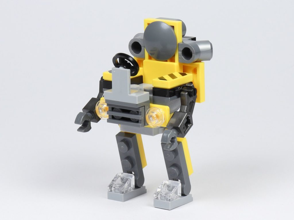 THE LEGO MOVIE 2 Mini-Baumeister Emmet (30529) - Roboter, vorne links | ©2019 Brickzeit