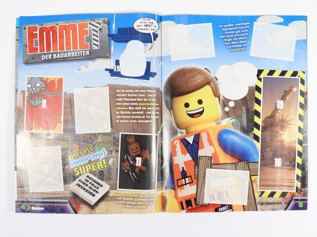 THE LEGO® MOVIE 2™ Magazin Nr. 1 - Stickeralbum, innen | ©2019 Brickzeit