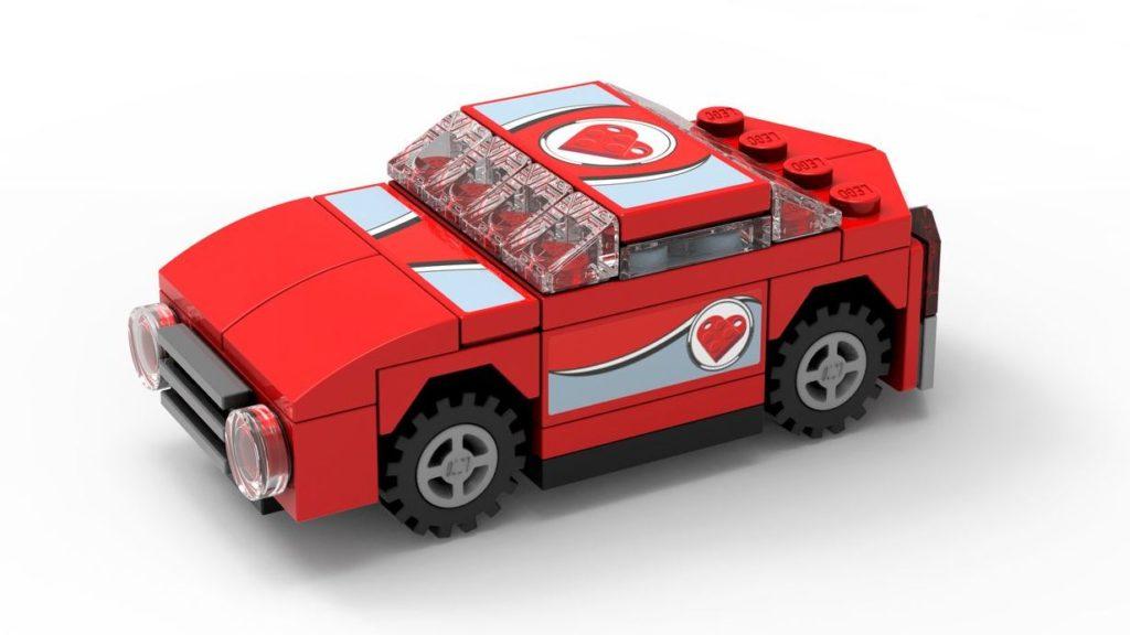 LEGO Store-Kalender März 2019 - roter Sportwagen | ©LEGO Gruppe