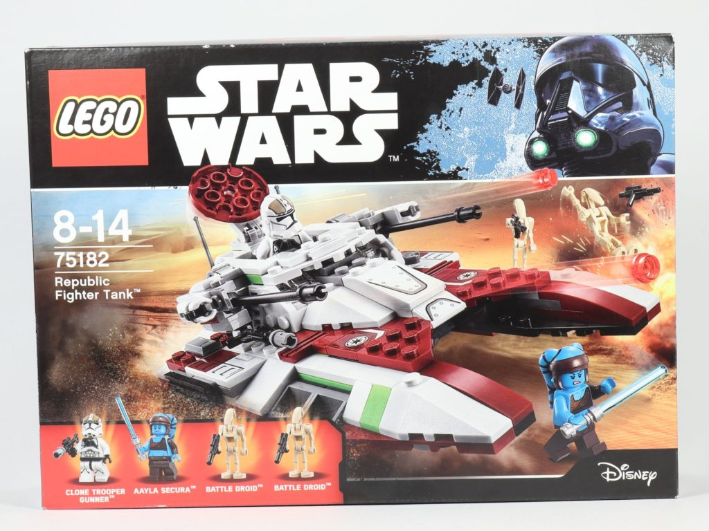 LEGO® Star Wars™ 75182 Republic Fighter Tank - Packung, Vorderseite | ©2019 Brickzeit