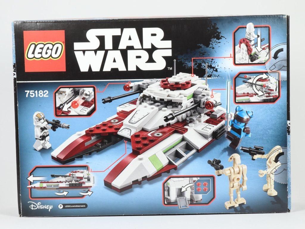 LEGO® Star Wars™ 75182 Republic Fighter Tank - Packung, Rückseite | ©2019 Brickzeit