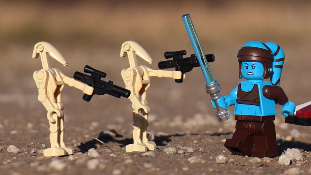 LEGO® Aayla Secura gegen Kampfdroiden | ®2019 Brickzeit