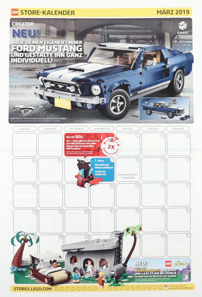 LEGO Store-Kalender März 2019 - Vorderseite