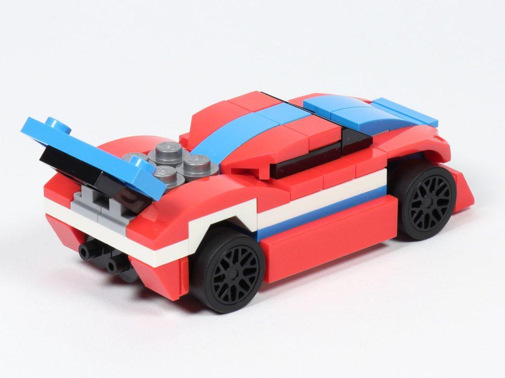LEGO® Creator 30572 Rennauto - rechts, hinten | ©2019 Brickzeit