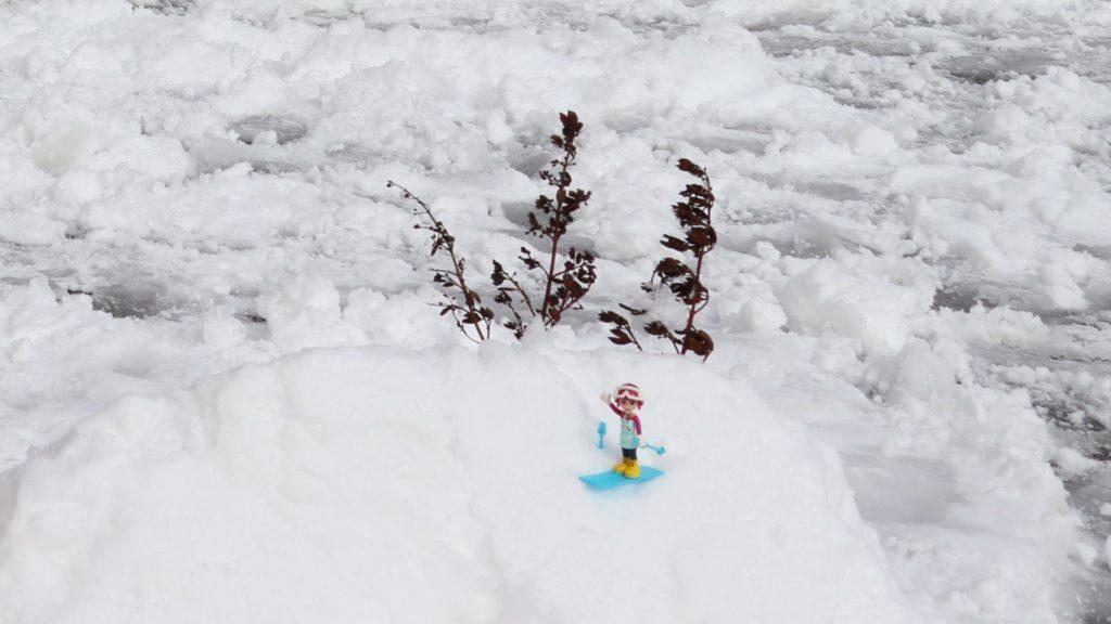 LEGO® Emma beim Skifahren - die Kulisse | ©2019 Brickzeit