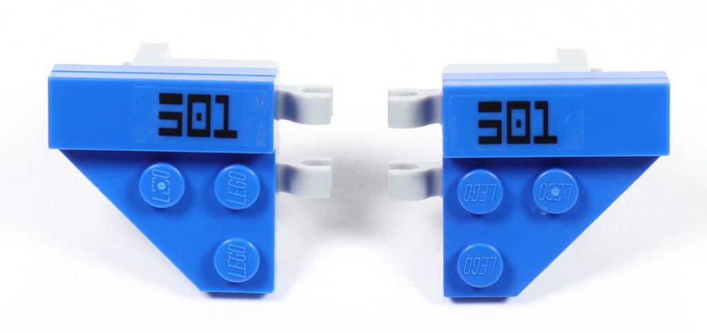 LEGO® Star Wars™ 75002 AT-RT™ - Bauabschnitt 3 - Seitenteile mit 501st Aufschrift | ©2019 Brickzeit