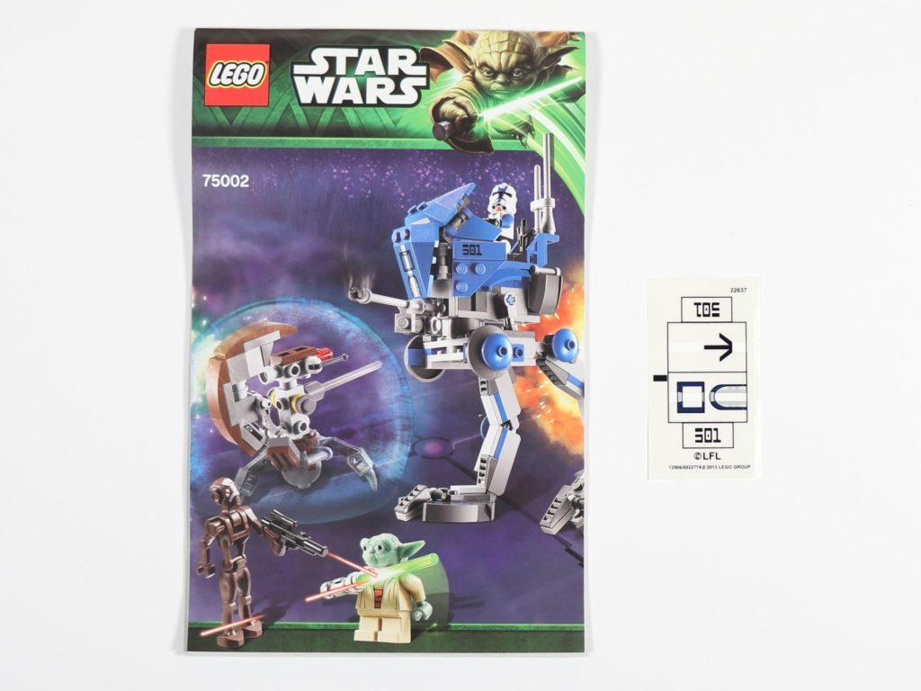 LEGO® Star Wars™ 75002 AT-RT™ - Inhalt, Anleitung und Aufkleber | ©2019 Brickzeit