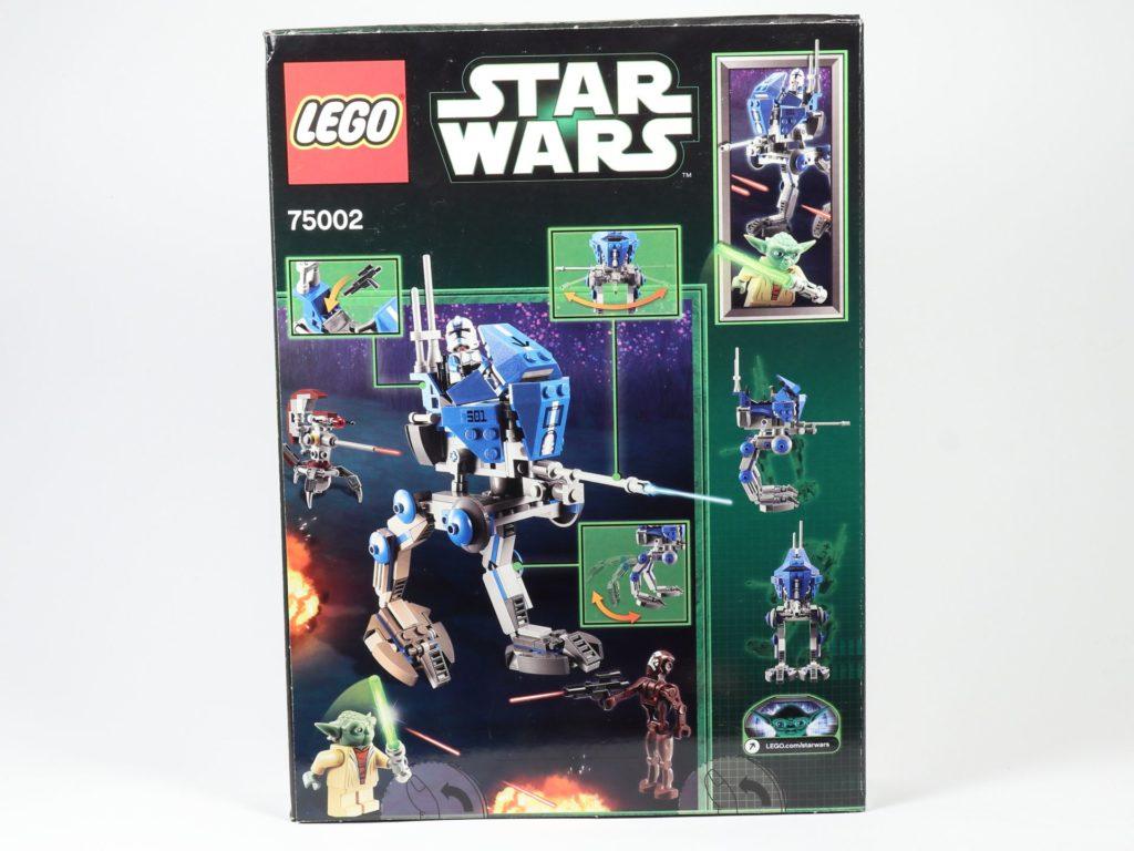 LEGO® Star Wars™ 75002 AT-RT™ - Packung, Rückseite | ©2019 Brickzeit