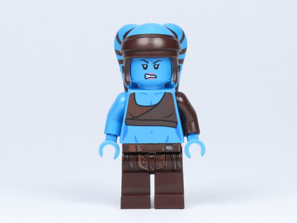 LEGO Star Wars 75182 - Aayla Secura - Vorderseite, alternatives Gesicht | ©2019 Brickzeit