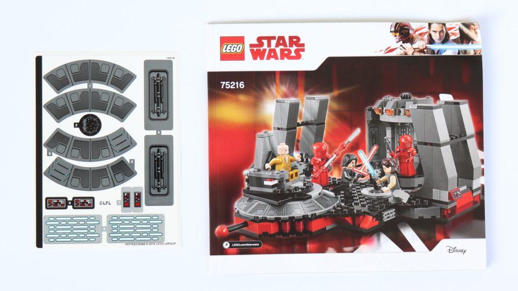 LEGO® Star Wars™ 75216 - Anleitung und Stickerbogen | ©2019 Brickzeit