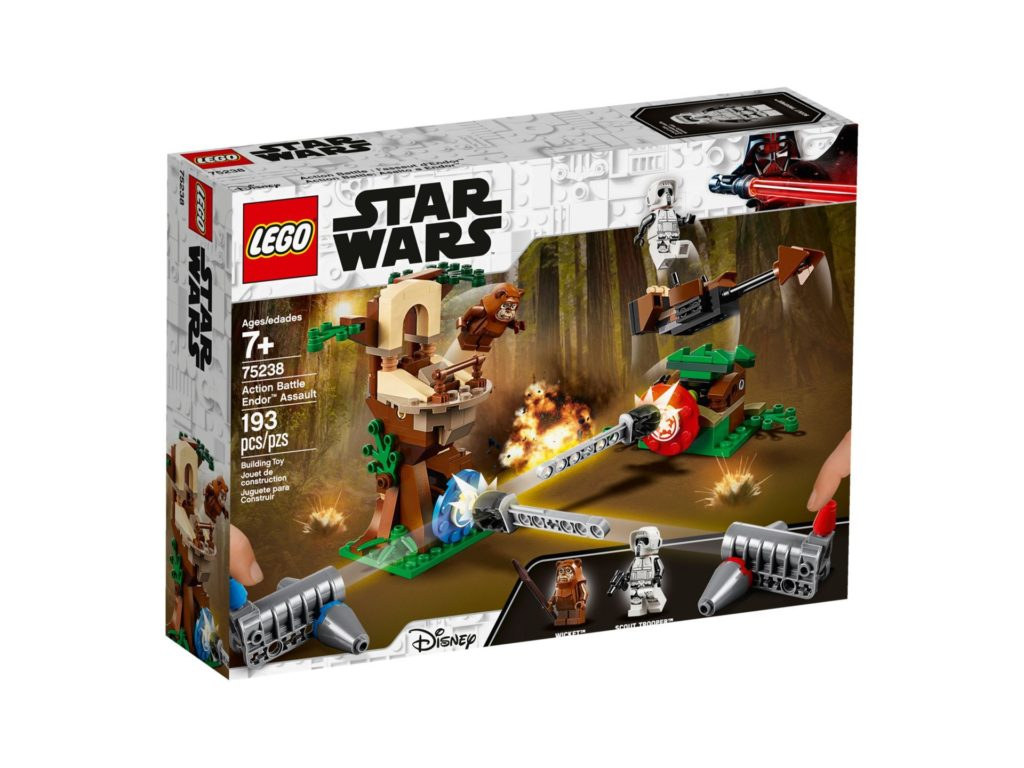 LEGO 75238 Action Battle Endor™ Attacke - Packung Vorderseite | ©LEGO Gruppe