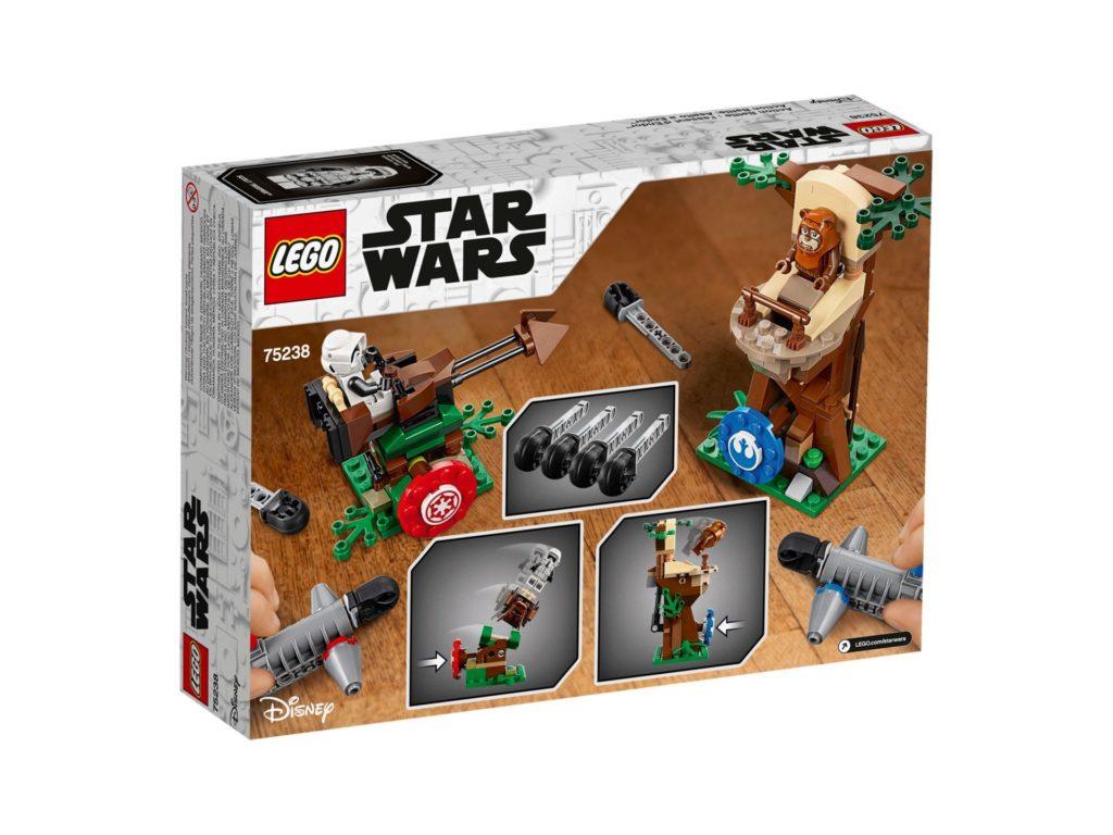 LEGO 75238 Action Battle Endor™ Attacke - Packung Rückseite | ©LEGO Gruppe
