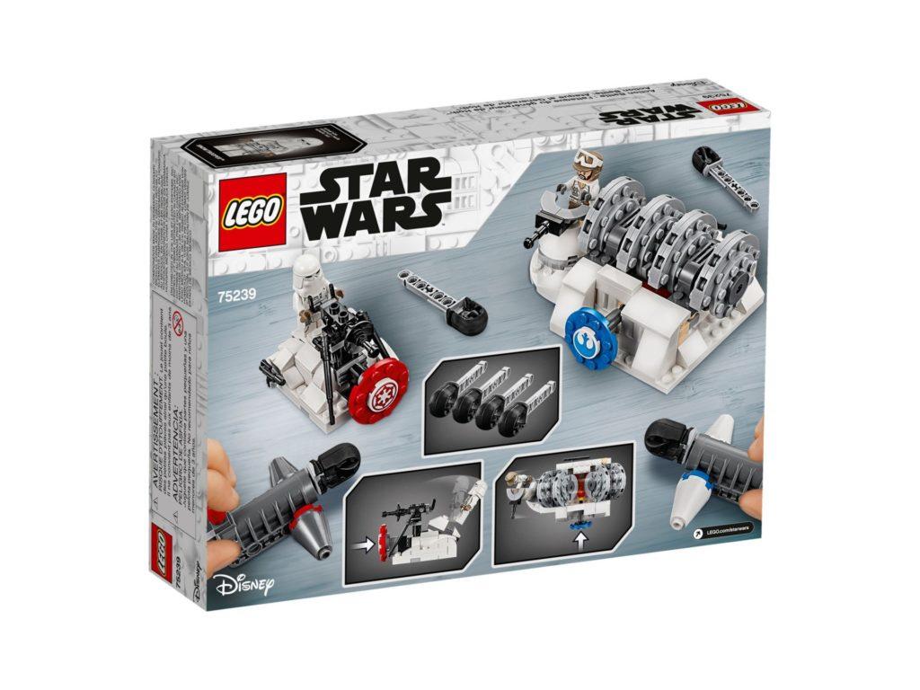 LEGO 75239 Action Battle Hoth™ Generator-Attacke - Packung Rückseite | ©LEGO Gruppe