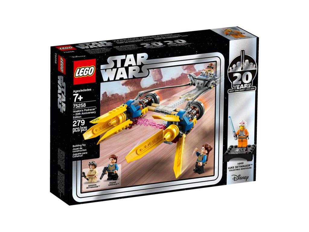 LEGO® 75258 Anakin's Podracer™ - 20 Jahre LEGO Star Wars - Packung Vorderseite | ©LEGO Gruppe
