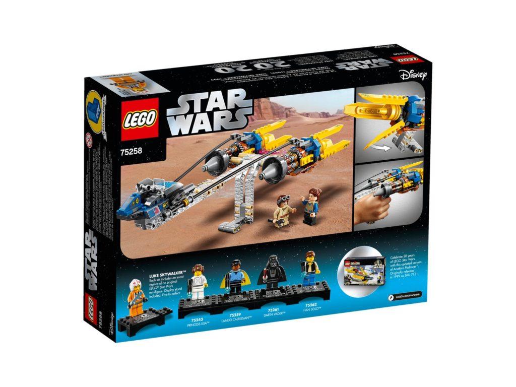 LEGO® 75258 Anakin's Podracer™ - 20 Jahre LEGO Star Wars - Packung Rückseite | ©LEGO Gruppe