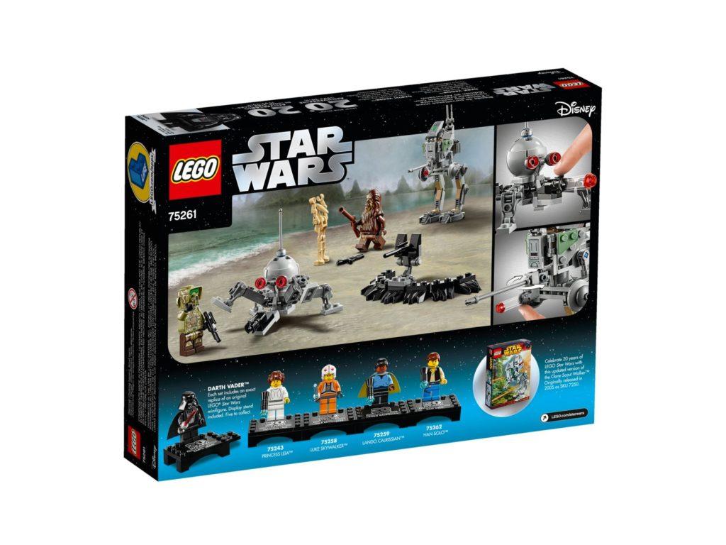 LEGO® 75261 Clone Scout Walker™ - 20 Jahre LEGO Star Wars - Packung Rückseite | ©LEGO Gruppe