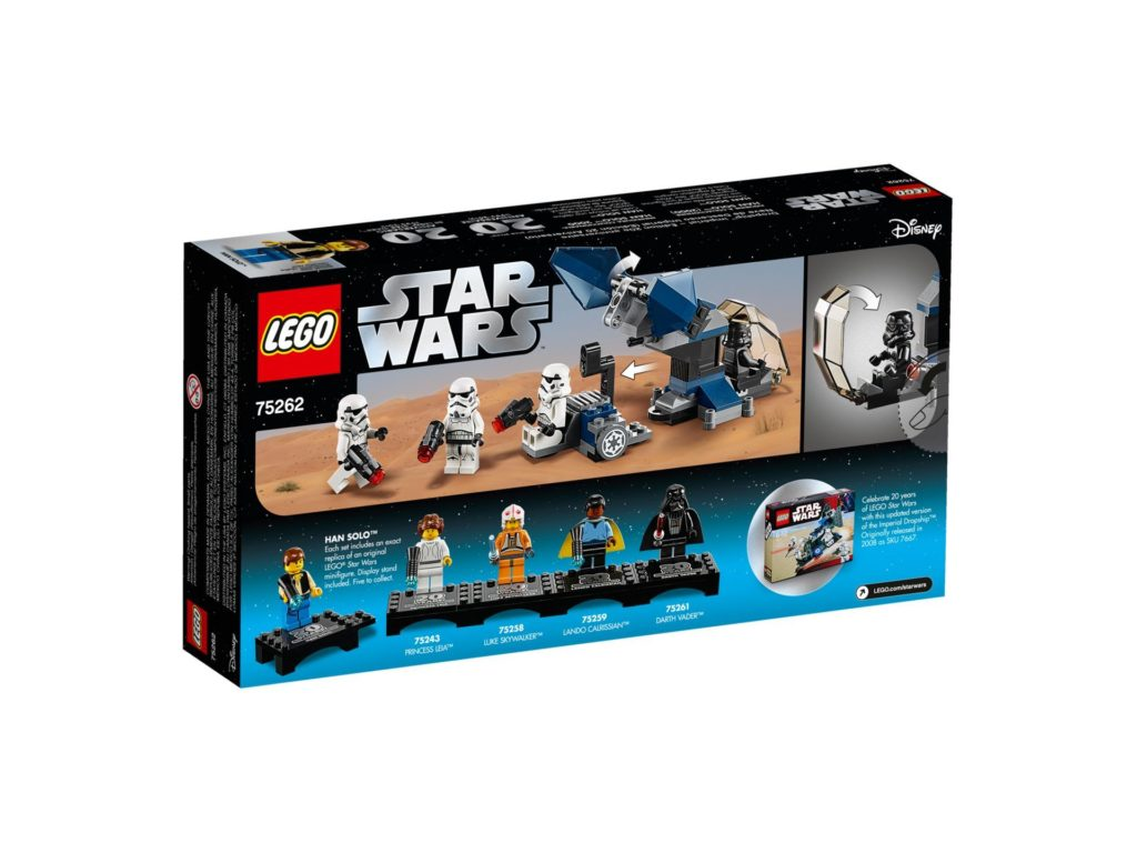 LEGO® 75262 Imperial Dropship™ - 20 Jahre LEGO Star Wars - Packung Rückseite | ©LEGO Gruppe