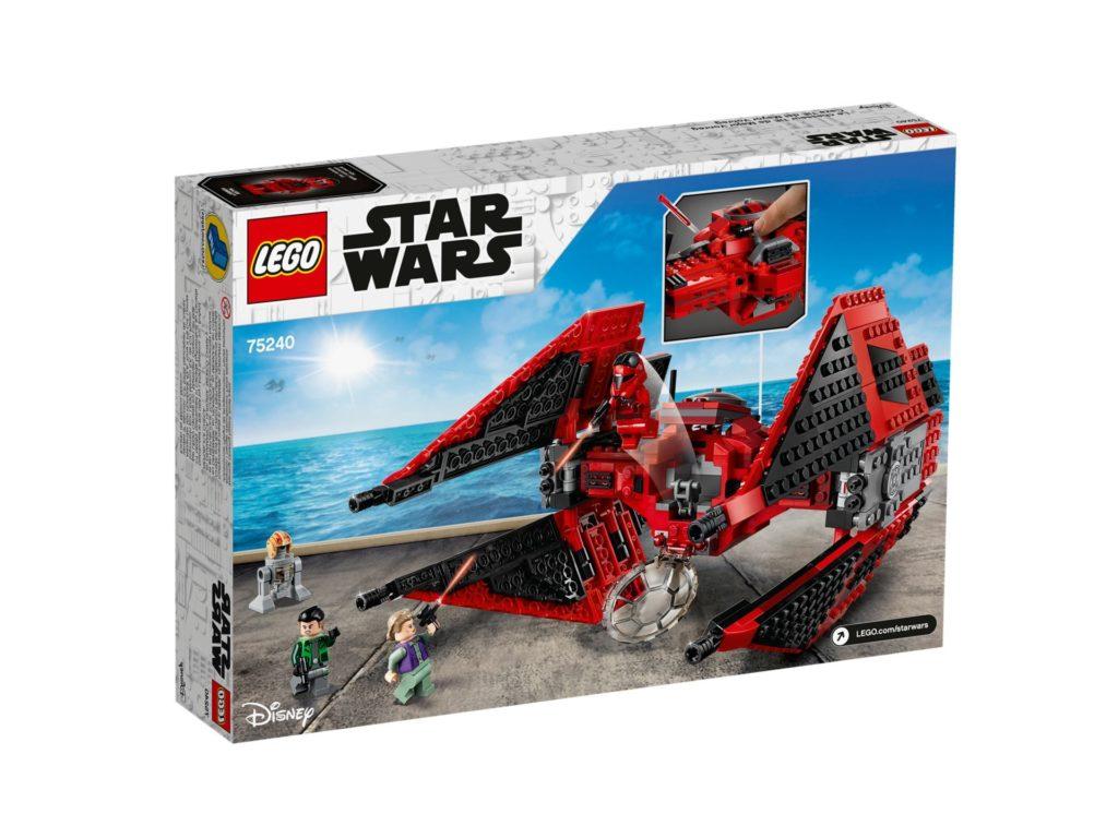 LEGO 75240 Major Vonreg's TIE Fighter™ - Packung Rückseite | ©LEGO Gruppe
