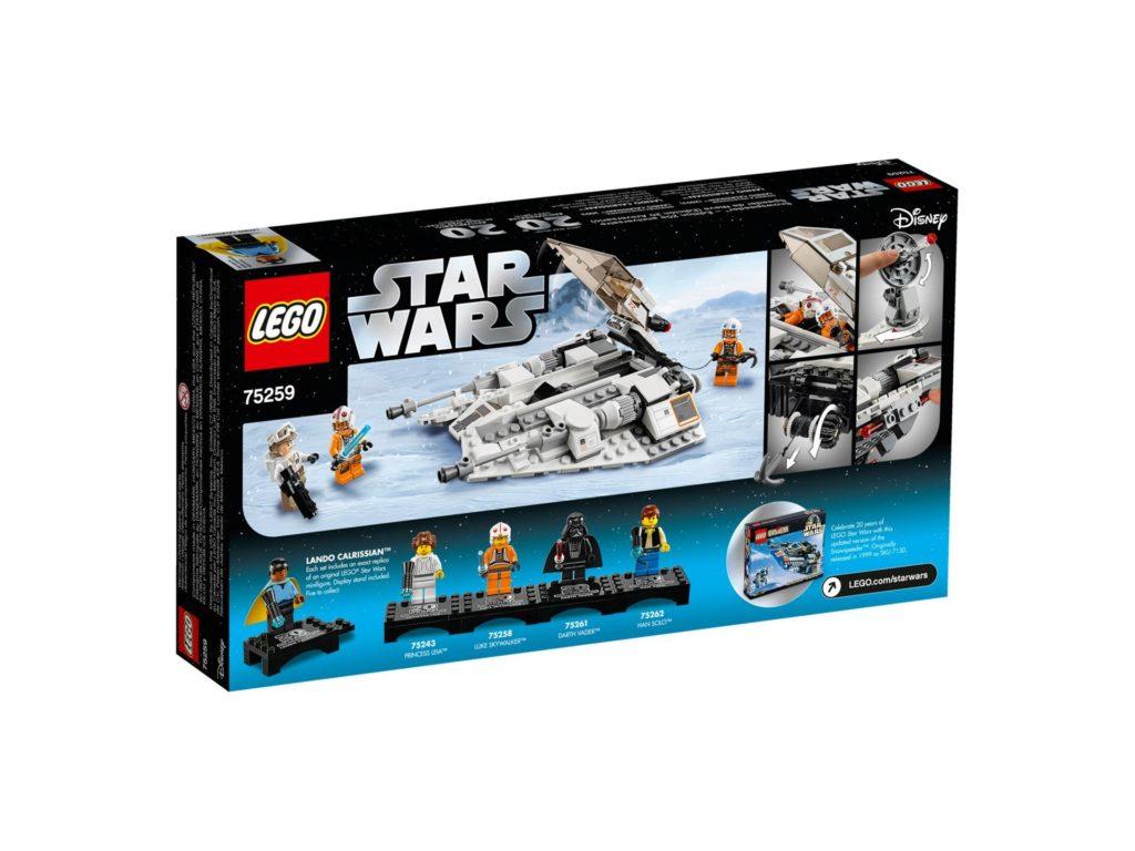 LEGO® 75259 Snowspeeder™ - 20 Jahre LEGO Star Wars - Packung Rückseite | ©LEGO Gruppe