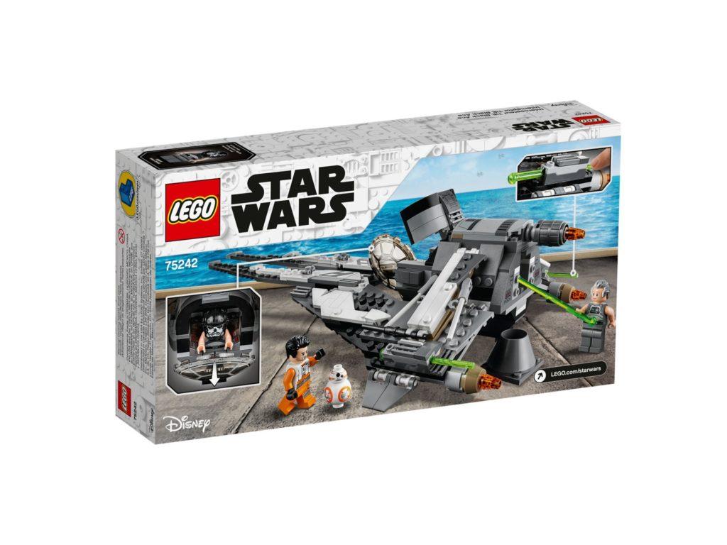 LEGO 75242 TIE Interceptor™ - Allianz-Pilot - Verpackung Rückseite | ©LEGO Gruppe
