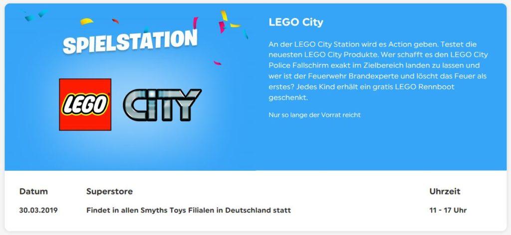 Smyths Toys Willkommensparty - LEGO Spielstation am 30. März 2019 | ©2019 Brickzeit