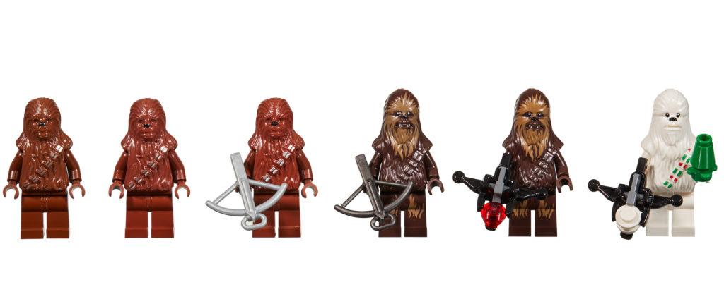 20 Jahre LEGO Star Wars - Evolution of Chewbacca | ©LEGO Gruppe