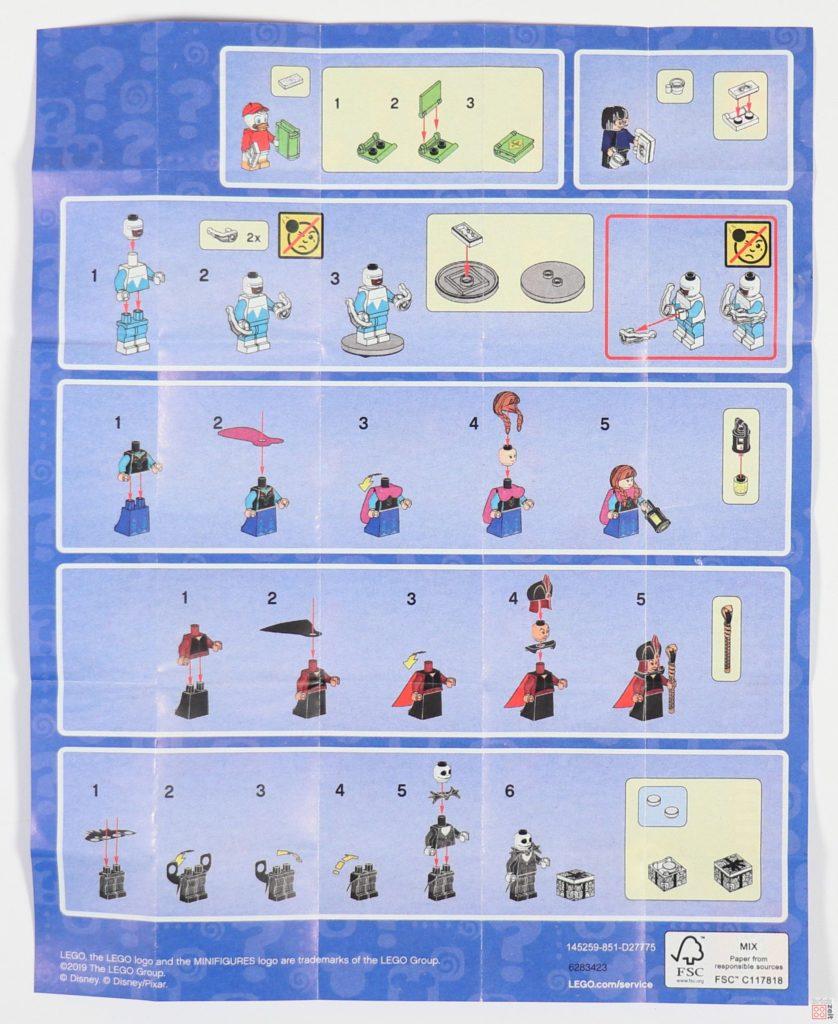 LEGO® 71024 Die Disney Minifiguren Serie 2 - Anleitung, Rückseite | ©2019 Brickzeit