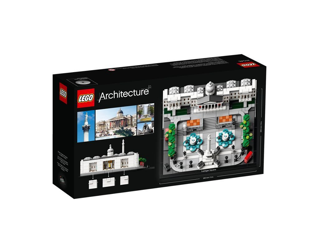 LEGO® Architecture 21045 Trafalgar Square - Packung Rückseite | ©LEGO Gruppe
