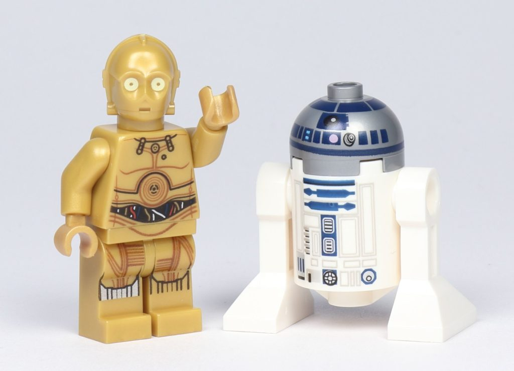 LEGO® Star Wars™ 75228 - C-3PO und R2-D2, Vorderseite | ©2019 Brickzeit