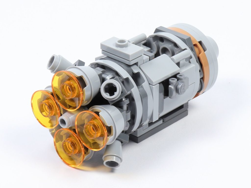 LEGO® Star Wars™ 75228 - Aufbau Escape Pod, fertig, hinten rechts | ©2019 Brickzeit