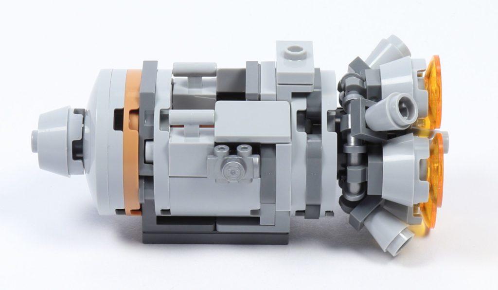 LEGO® Star Wars™ 75228 - Aufbau Escape Pod, fertig, linke Seite | ©2019 Brickzeit