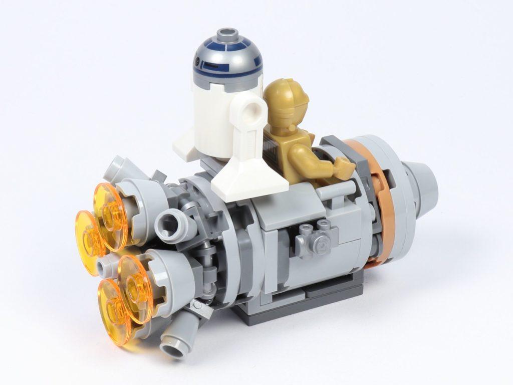LEGO® Star Wars™ 75228 - Aufbau Escape Pod, mit Minifiguren, hinten rechts | ©2019 Brickzeit