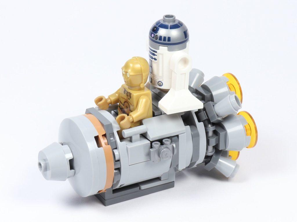 LEGO® Star Wars™ 75228 - Aufbau Escape Pod, mit Minifiguren, vorne links | ©2019 Brickzeit