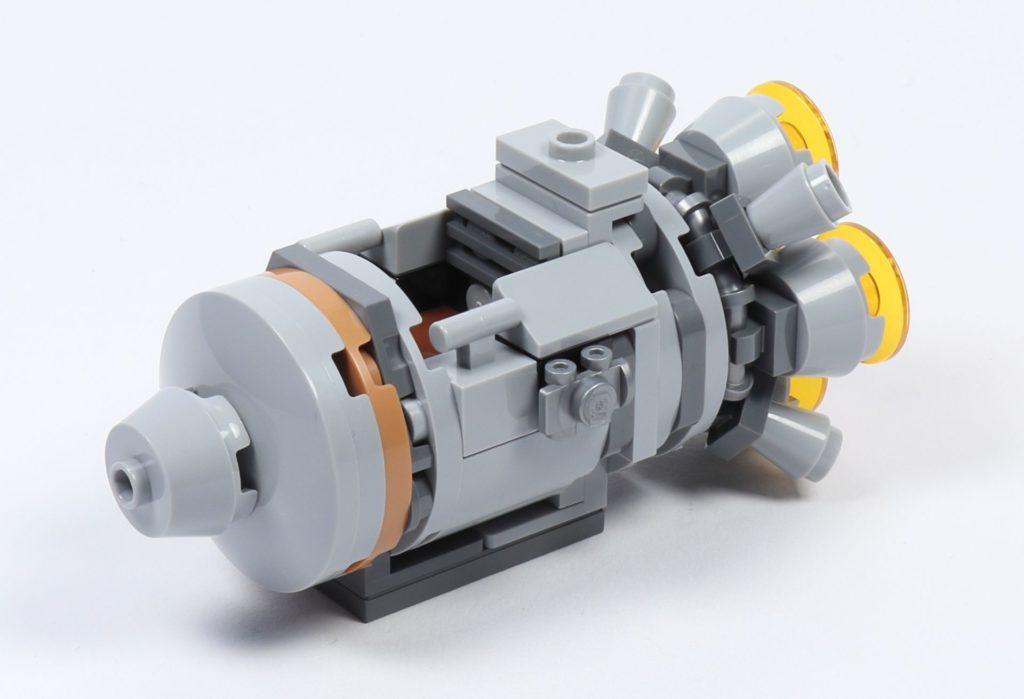 LEGO® Star Wars™ 75228 - Aufbau Escape Pod, fertig, vorne links | ©2019 Brickzeit