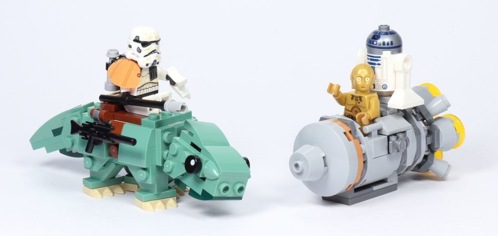 LEGO® Star Wars™ 75228 Escape Pod vs. Dewback Microfighters | ©2019 Brickzeit