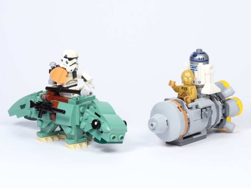 LEGO® Star Wars™ 75228 Escape Pod vs. Dewback Microfighters - Titelbild | ©2019 Brickzeit