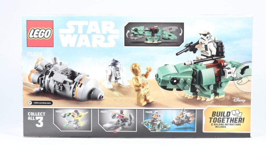 LEGO® Star Wars™ 75228 - Packung, Rückseite | ©2019 Brickzeit
