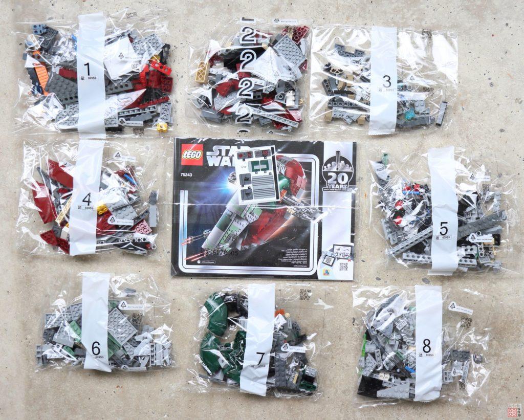 LEGO® Star Wars™ 75243 Slave I - Inhalt | ©2019 Brickzeit