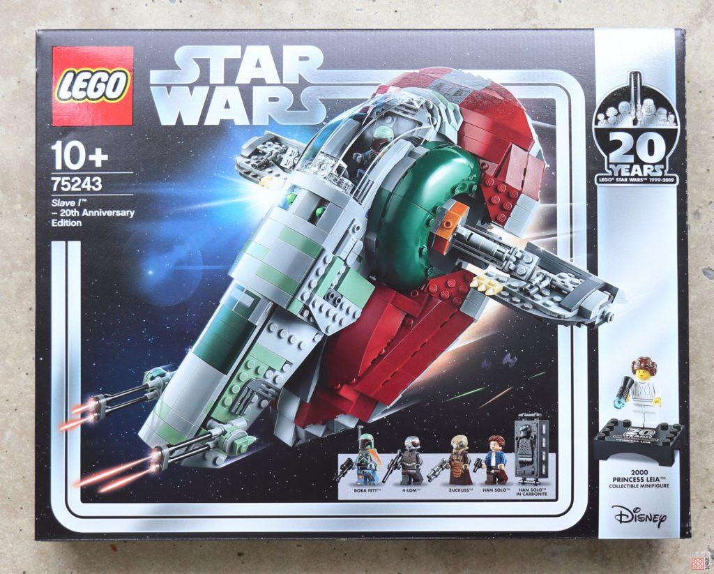 LEGO® Star Wars™ 75243 Slave I - Packung, Vorderseite | ©2019 Brickzeit