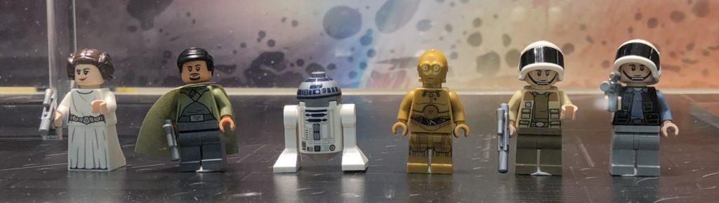 LEGO® Star Wars™ 75244 Tantive IV im Schaufenster - Minifiguren | ©2019 Brickzeit